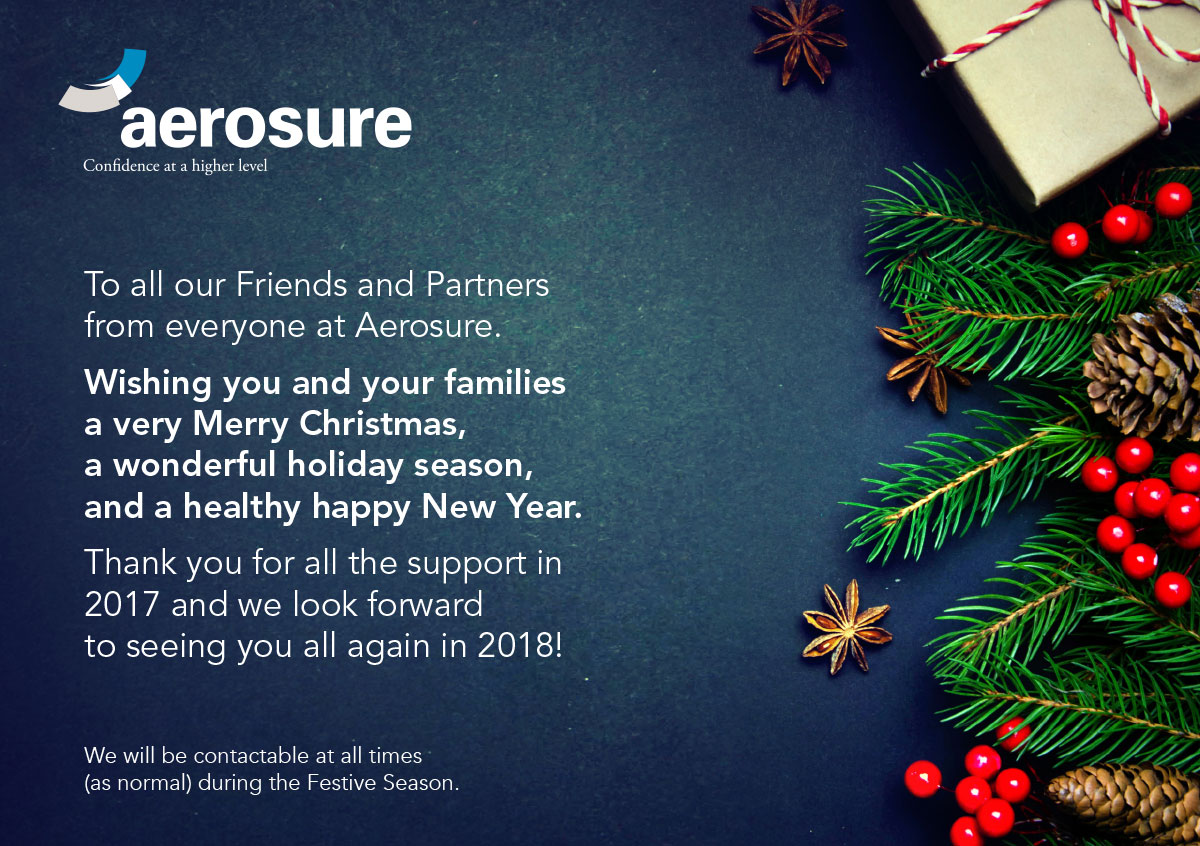 Aerosure 2017 Christmas message